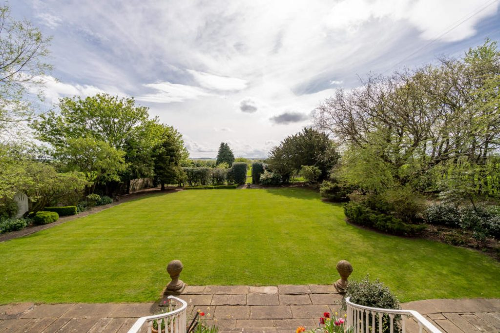 View across lawn towards the South